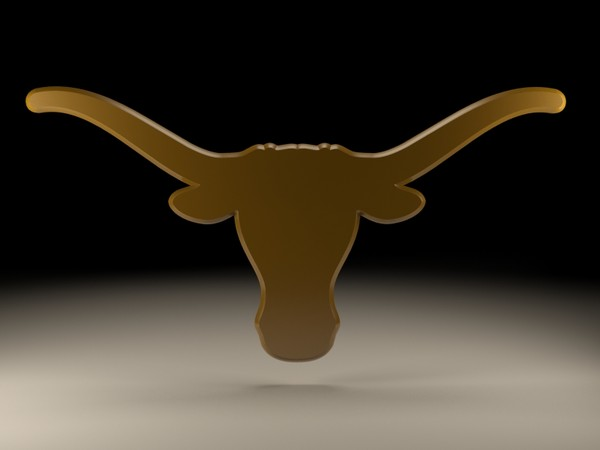 logo university texas 3d obj - University of Texas logo... by NickHester